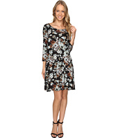 Karen Kane - Blue Floral Maggie Trapeze Dress