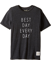 The Original Retro Brand Kids - Best Day Every Day Heather Short Sleeve Tee (Big Kids)