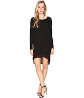 HEATHER - Long Sleeve Silk Layered Slouchy Dress