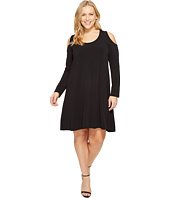 Karen Kane Plus - Plus Size Cold Shoulder Trapeze Dress