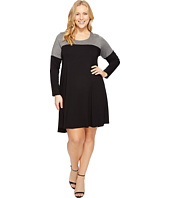 Karen Kane Plus - Plus Size Color Block Maggie Trapeze Dress