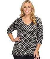 Karen Kane Plus - Plus Size Contrast Back Tunic
