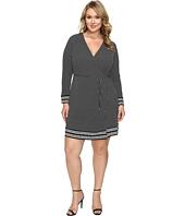 MICHAEL Michael Kors - Plus Size Harget Border Wrap Dress