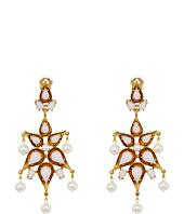 Oscar de la Renta - Cabochon Pear Stone and Pearl C Earrings