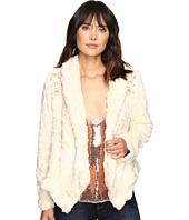 Free People - Embroidered Cascade Fur Jacket