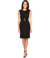 Tahari by ASL - Crepe Sheath Dress w/ Hardware