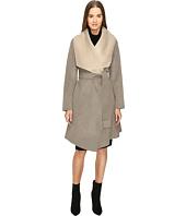 Diane von Furstenberg - Jenna Double Face Wool Two-Tone Wrap Coat