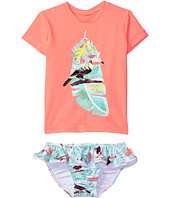 Seafolly Kids - Touci Frutti Short Sleeve Rashie Set (Infant/Toddler/Little Kids)