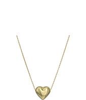 Dee Berkley - 14KT Yellow Gold Puffy Heart Necklace