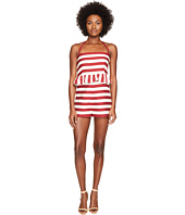 RED VALENTINO - Striped Cotton Romper
