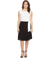 Tahari by ASL Petite - Petite Textured Crepe Side Tie Dress