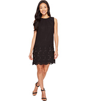 Tahari by ASL Petite - Petite Embroidered Floral Hem Chiffon Shift Dress