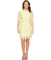 Tahari by ASL Petite - Petite Short Sleeve Chemical Lace Sheath Dress