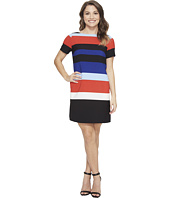 Tahari by ASL Petite - Petite Block Stripe Shift Dress