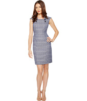 Tahari by ASL - Tweed Sheath Dress with Buttons