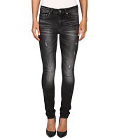 G-Star - 3301 High Skinny in Towi Black Stretch Denim Medium Aged Restored 97