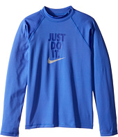 Nike Kids - Just Do It Long Sleeve Hydroguard Top (Big Kids)