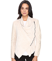 Blank NYC - Faux Suede Beige Drape Front Jacket in Sunny Days
