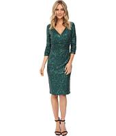 NUE by Shani - Cross-Over V-Neckline Sequin Knit Dress