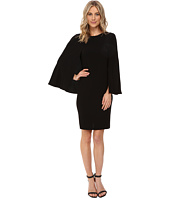 NUE by Shani - Crepe Dress with Cape Detail