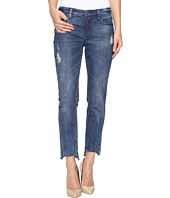 Blank NYC - Cropped Denim Distressed Skinny Raw Hem Jeans in Club Kid