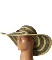 San Diego Hat Company - UBL6489 Round Crown Stripe Ultrabraid Floppy Hat
