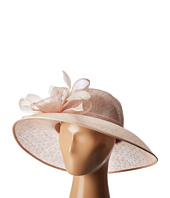 San Diego Hat Company - DRS1013 Derby Sinamay Dress Hat with Flocked Dot Brim