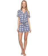 Lucky Brand - Notch Collar Short Pajama Set