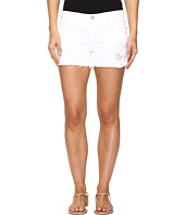 Blank NYC - Distressed White Shorts in White Lines