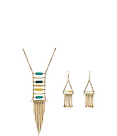 M&F Western - Stone Ladder w/ Finge Long Necklace/Earrings Set