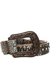 M&F Western - Croco Copper Nailhead Belt