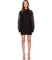 Vera Wang - Long Sleeve Sheer Tank Dress