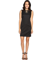 Ellen Tracy - Pique Dress w/ Neckline Embellishment