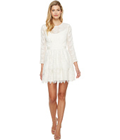 Adelyn Rae - Suzanne Woven Lace Long Sleeve Fit and Flare