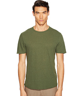 Vince - Raw Hem Short Sleeve Linen Blend Crew Neck T-Shirt