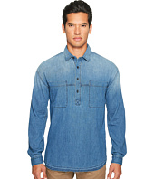 Vince - Denim 1/2 Placket Pullover Shirt