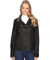 Dylan by True Grit - Easy Rider Motorcycle Jacket with Vintage Faux Shearling Lining