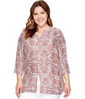 B Collection by Bobeau Curvy - Plus Size Hadil Woven Kaftan