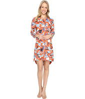 Nally & Millie - Red Floral High-Low Dress
