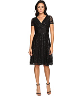 NUE by Shani - Fit and Flare Sequin Lace Dress