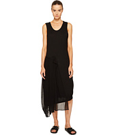 Y's by Yohji Yamamoto - U-Knit Sheer Combo Tank Dress