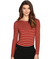 LAVEER - Striped Long Sleeve Scoop Bodysuit