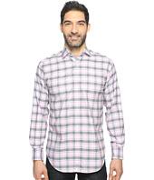 Thomas Dean & Co. - Long Sleeve Twill Plaid Sport Shirt