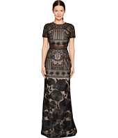 Marchesa Notte - Short Sleeve Lace Gown