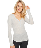 P.J. Salvage - Just Peachy Ribbed Long Sleeve Henley
