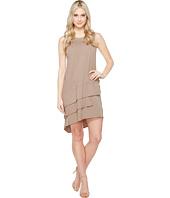 Dylan by True Grit - Luxe Cotton Slub Three Tiers Tank Dress
