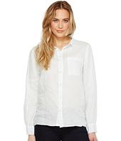 Dylan by True Grit - Luxe Linen Long Sleeve One-Pocket Boyfriend Shirt
