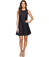 Donna Morgan - Sleeveless Dot Burnout Jacquard Sleeveless Trapeze Dress