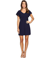 Jessica Simpson - V-Neck Flutter Sleeved Dress