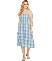 Dylan by True Grit - Genuine Indigo Linens Bonita Slip Dress Denim Small Plaids